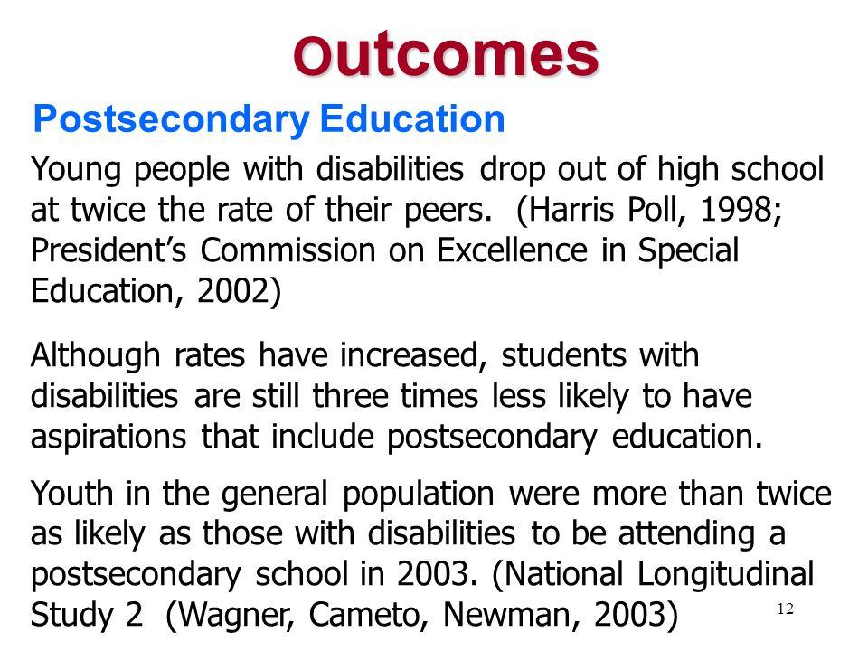 Outcomes Postsecondary Education