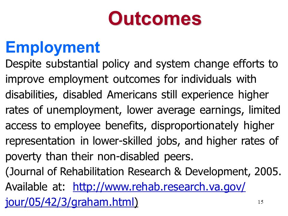 Outcomes Employment.