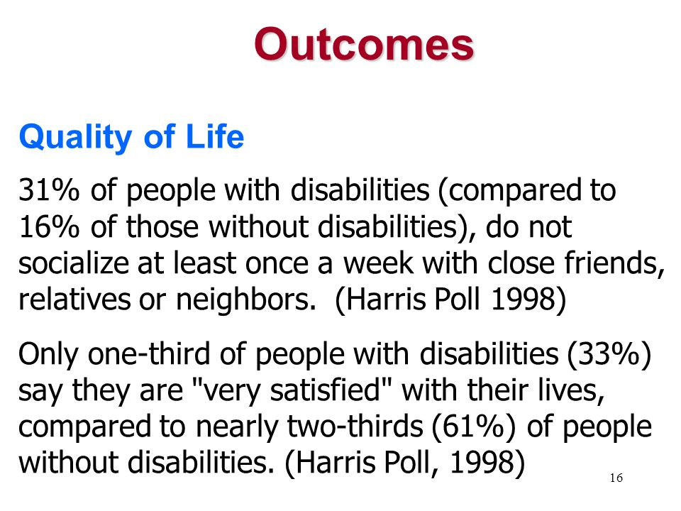Outcomes Quality of Life