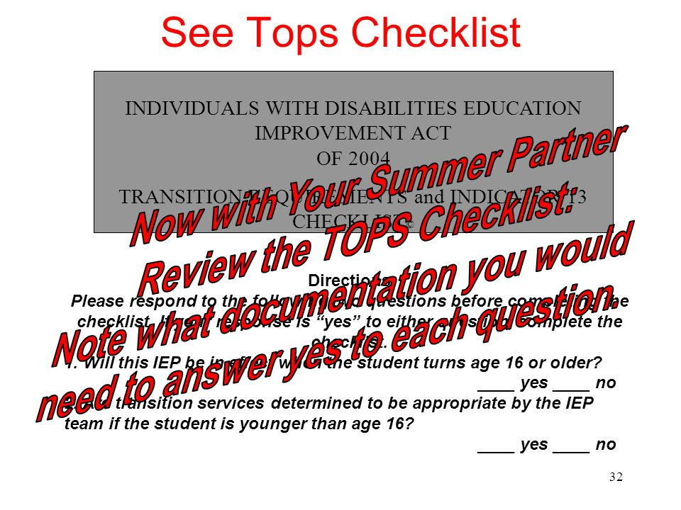 See Tops Checklist Now with Your Summer Partner