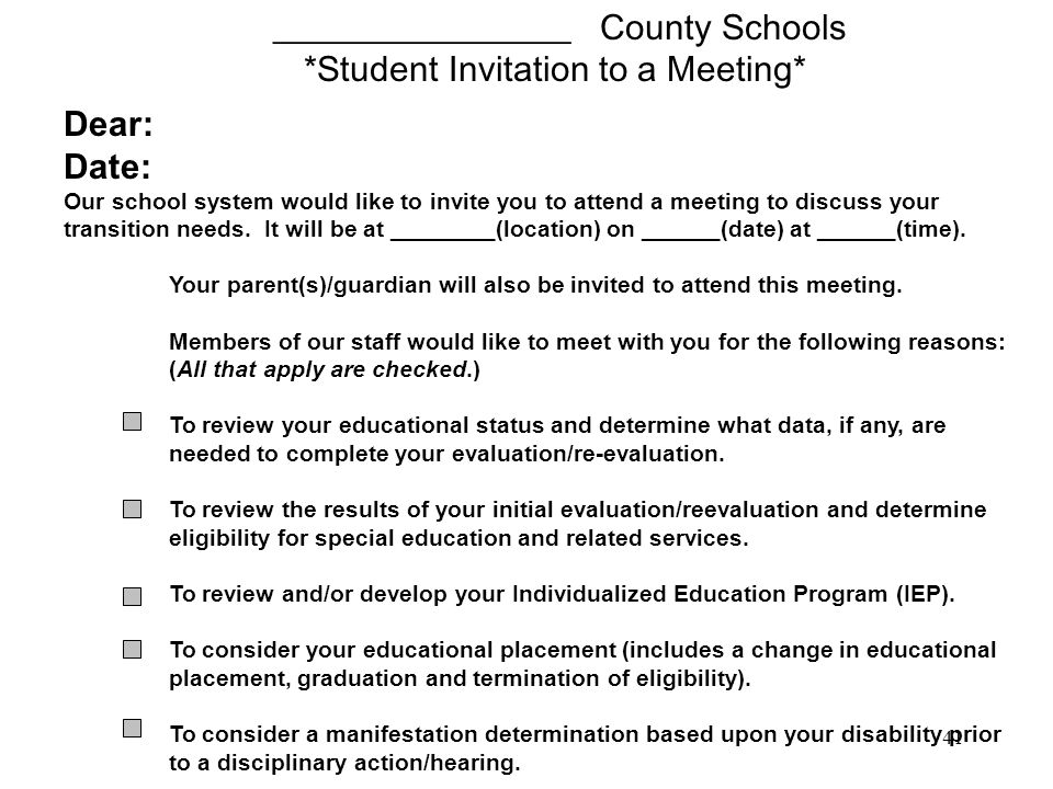 _________________ County Schools *Student Invitation to a Meeting*