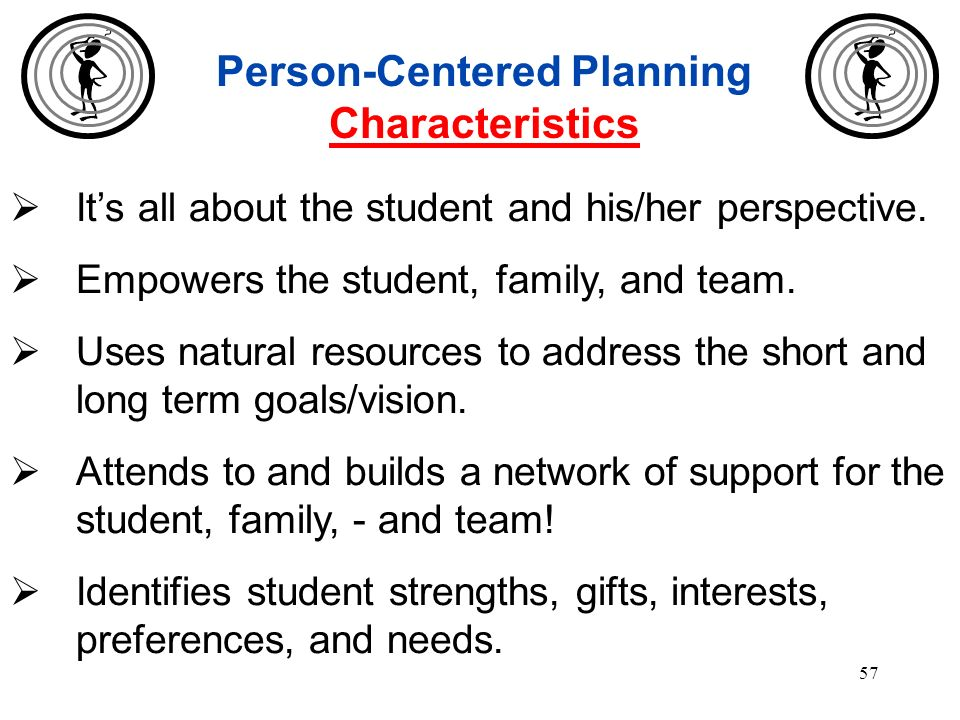 Person-Centered Planning Characteristics