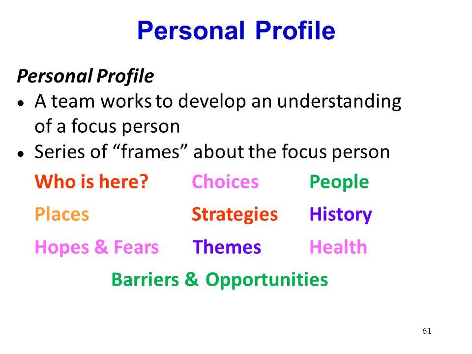 Personal Profile Personal Profile