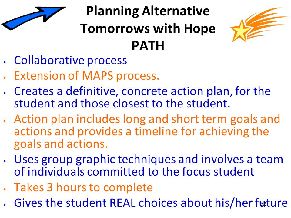 Planning Alternative Tomorrows with Hope PATH