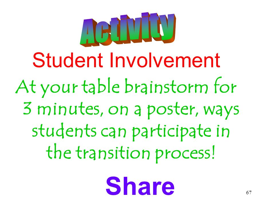Share Student Involvement