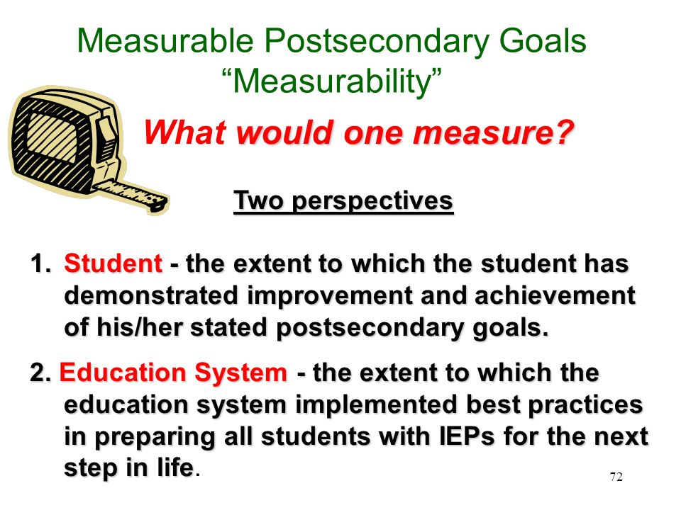 Measurable Postsecondary Goals Measurability