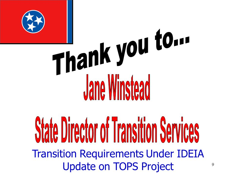 State Director of Transition Services