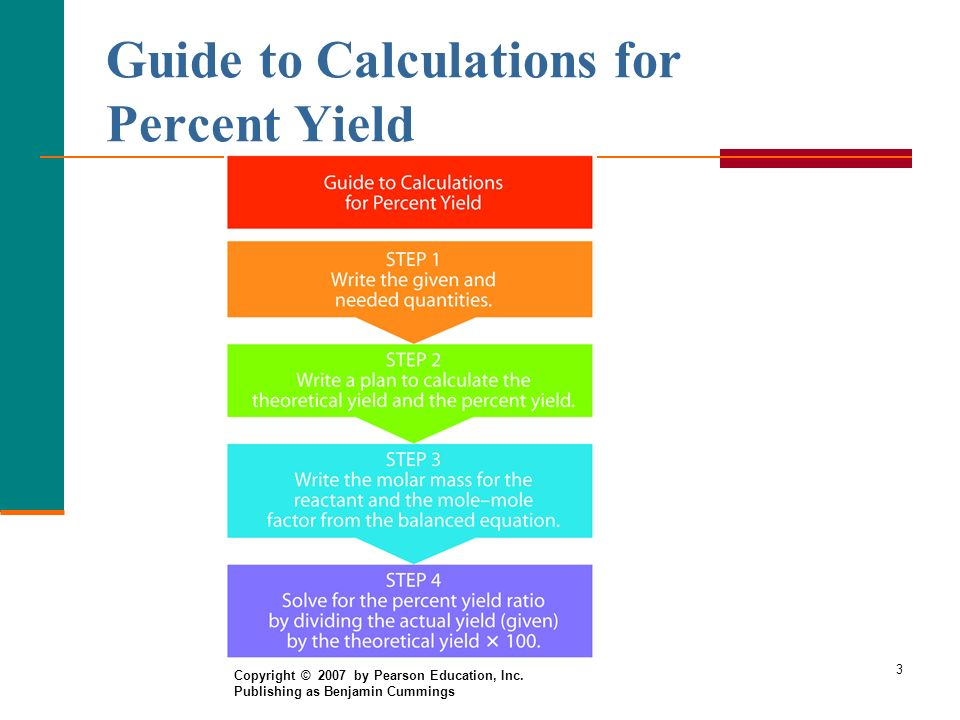 Guide to Calculations for Percent Yield