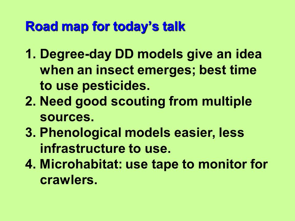 Road map for today's talk