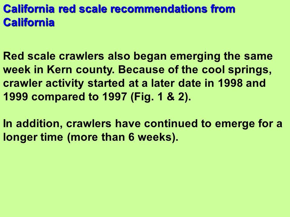 California red scale recommendations from California