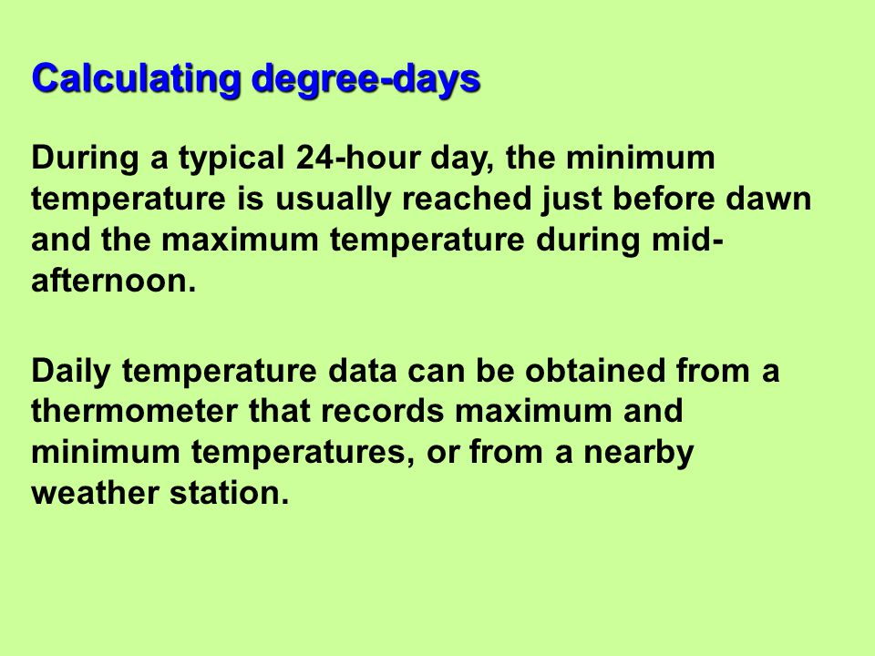 Calculating degree-days