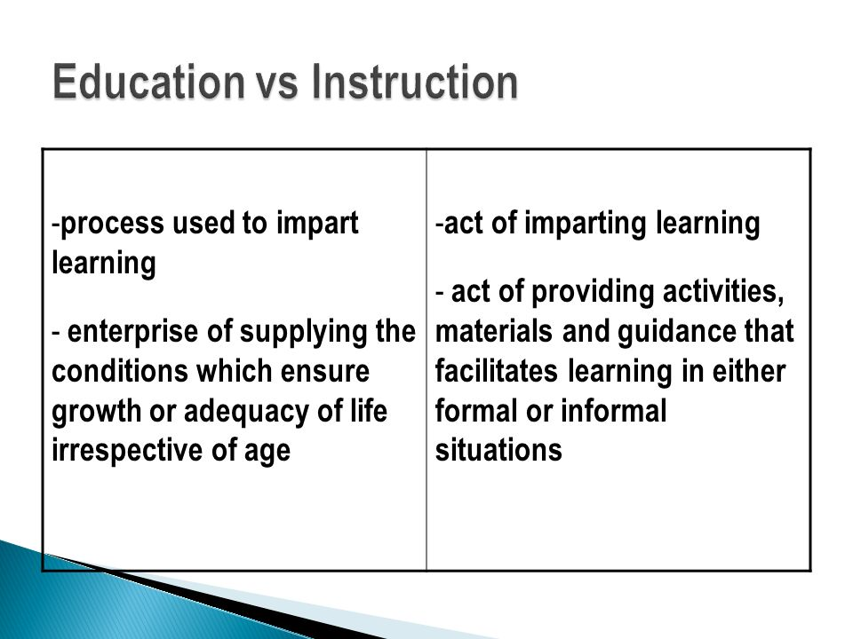 Education vs Instruction