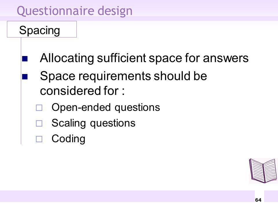 Allocating sufficient space for answers