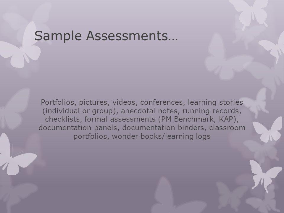 Sample Assessments…