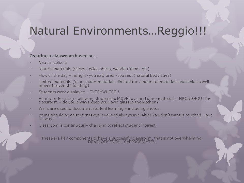 Natural Environments…Reggio!!!