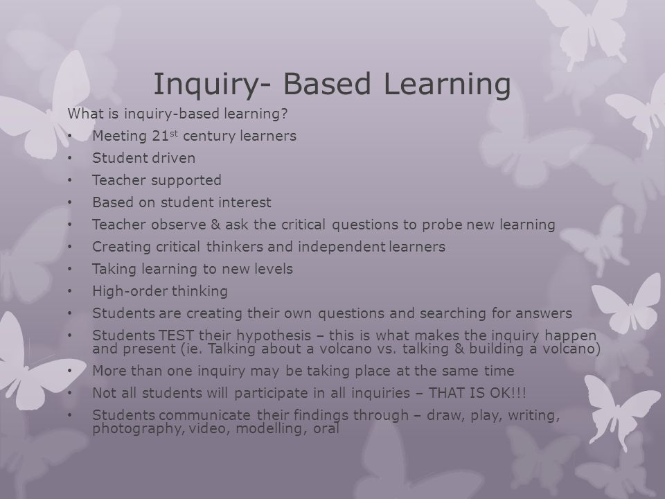 Inquiry- Based Learning