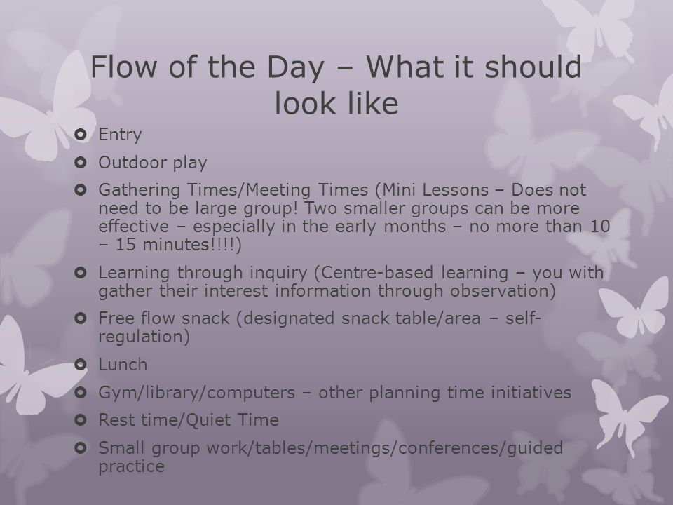 Flow of the Day – What it should look like