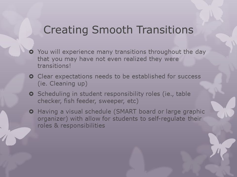 Creating Smooth Transitions