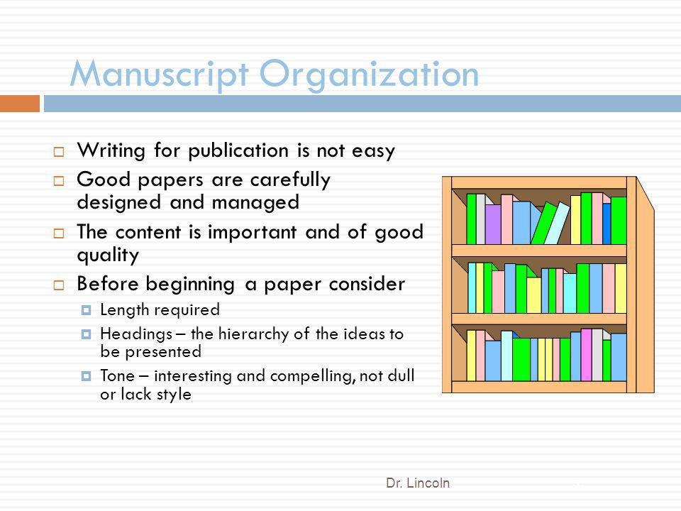 Manuscript Organization