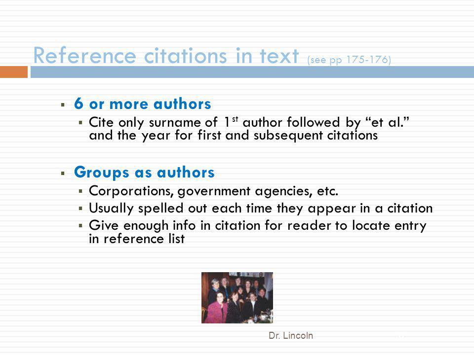 Reference citations in text (see pp )