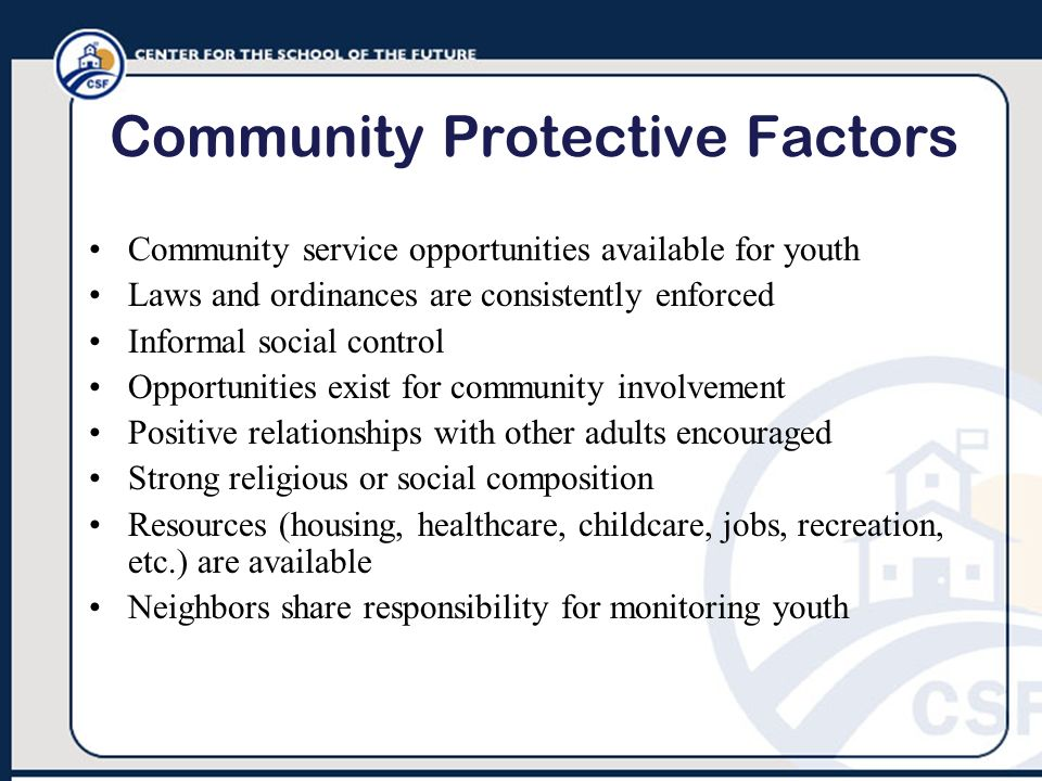 Community Protective Factors