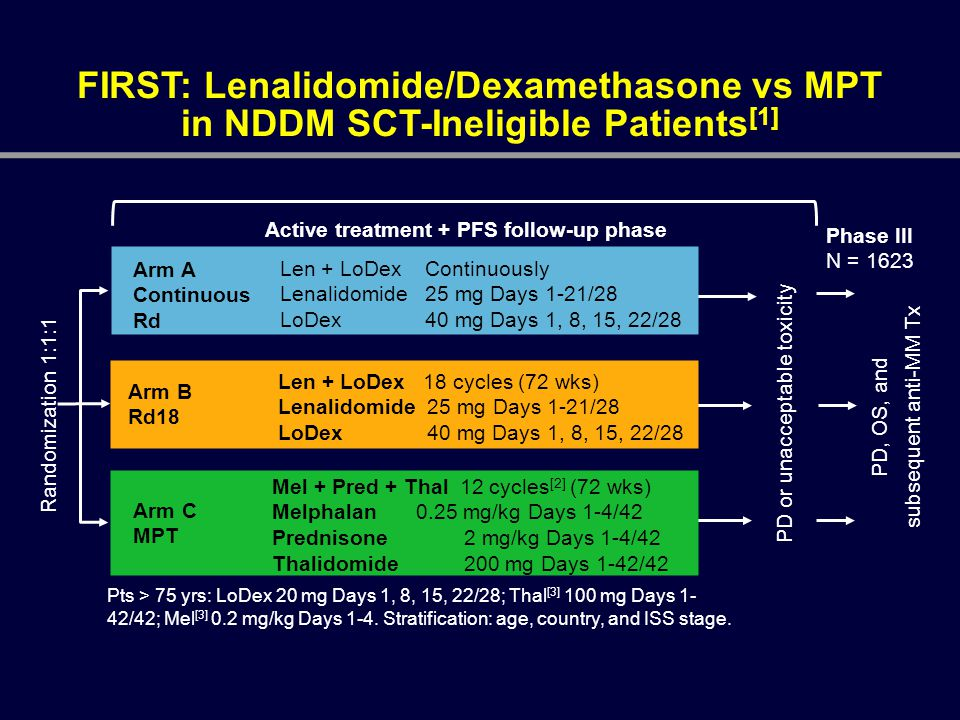 Active treatment + PFS follow-up phase