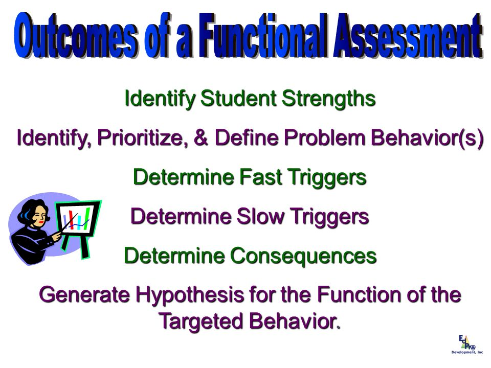 Outcomes of a Functional Assessment