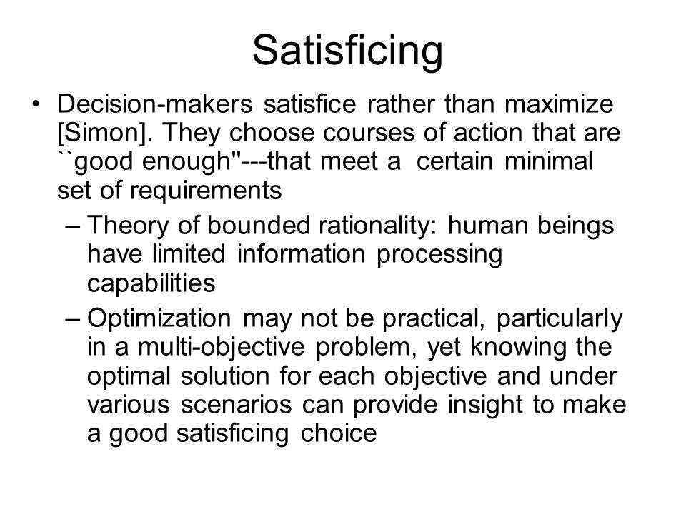 Satisficing