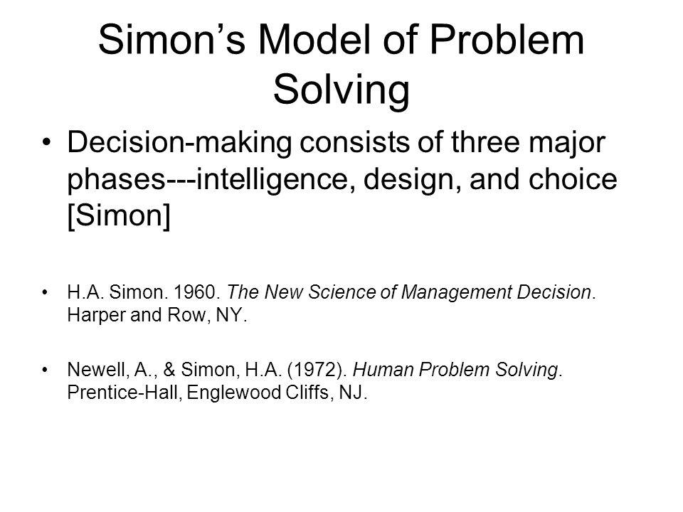 Simon's Model of Problem Solving
