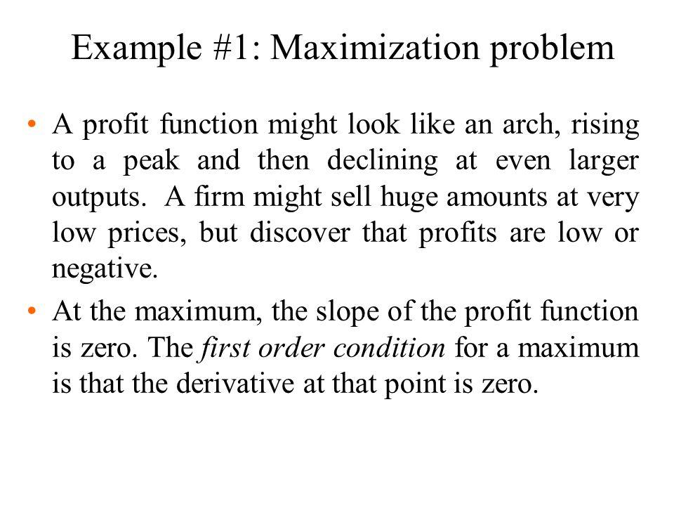 Example #1: Maximization problem