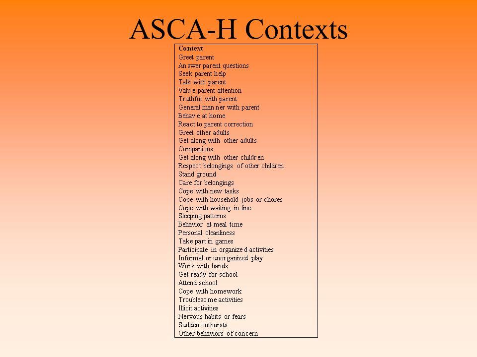 ASCA-H Contexts