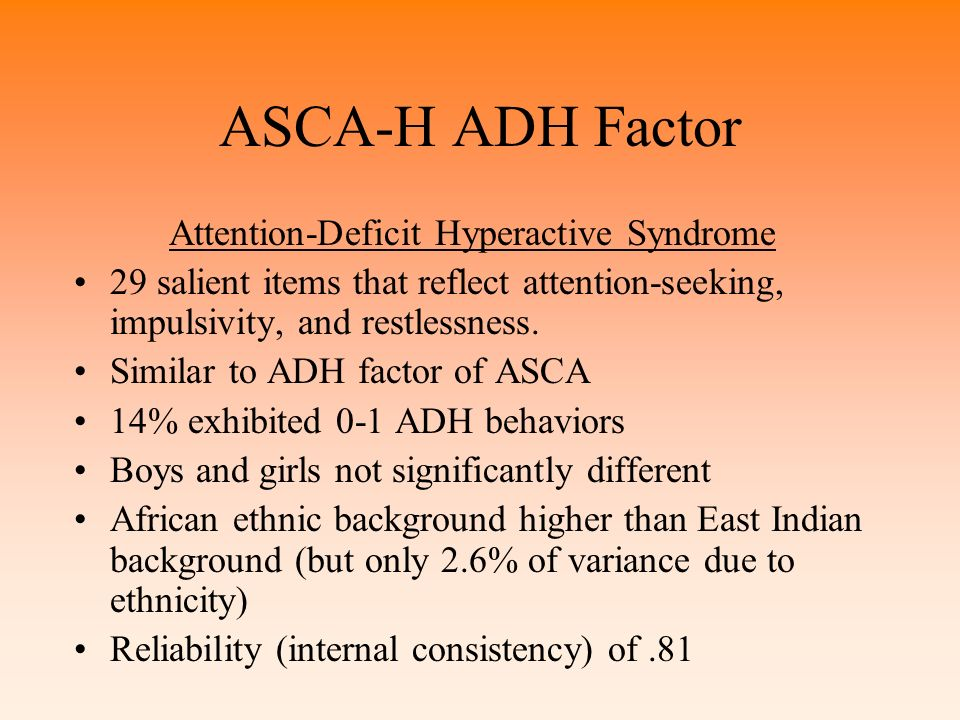 Attention-Deficit Hyperactive Syndrome