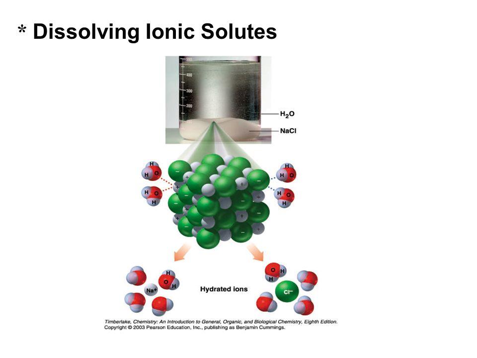 * Dissolving Ionic Solutes