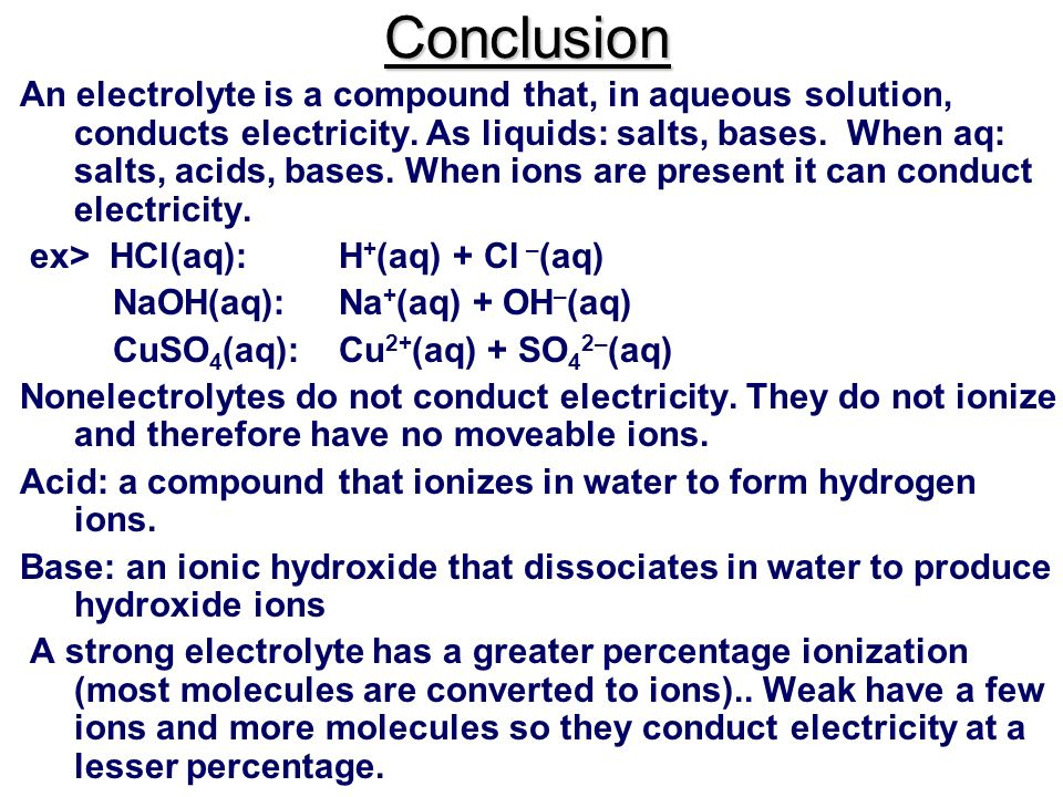 Conductivity Part 1: Electrolytes and Non-Electrolytes