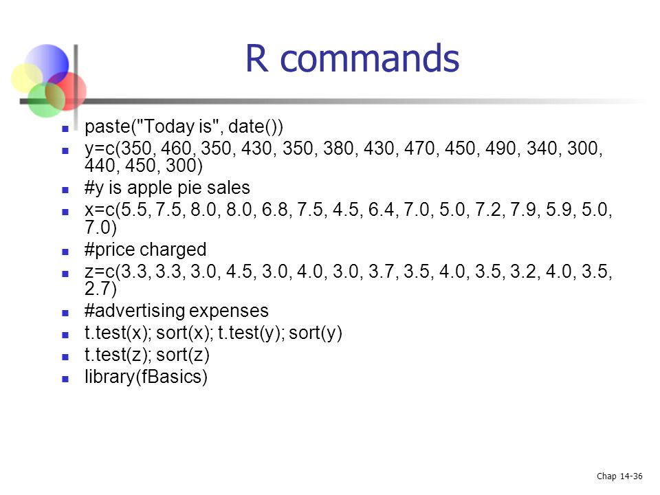 R commands paste( Today is , date())