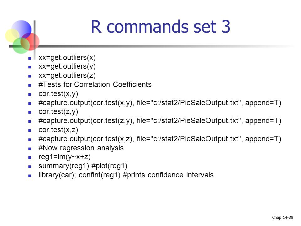 R commands set 3 xx=get.outliers(x) xx=get.outliers(y)