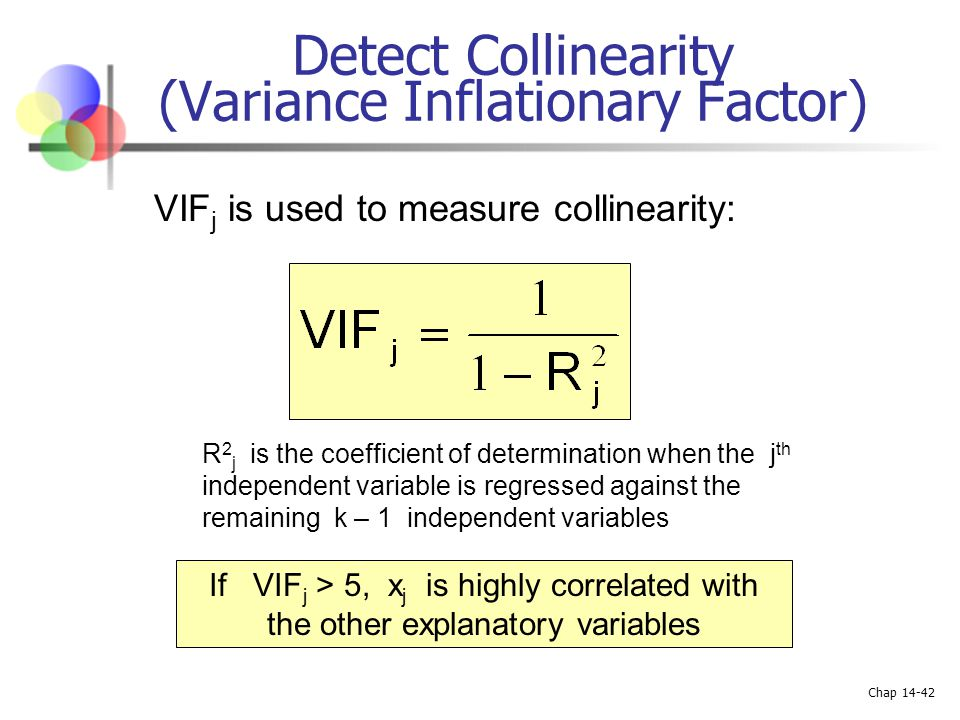 Detect Collinearity (Variance Inflationary Factor)