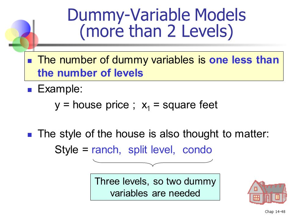 Dummy-Variable Models (more than 2 Levels)