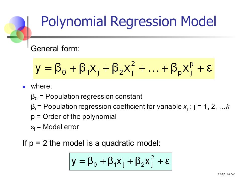 Chapter 14 Multiple Regression Analysis and Model Building ppt – Quadratic Regression Worksheet