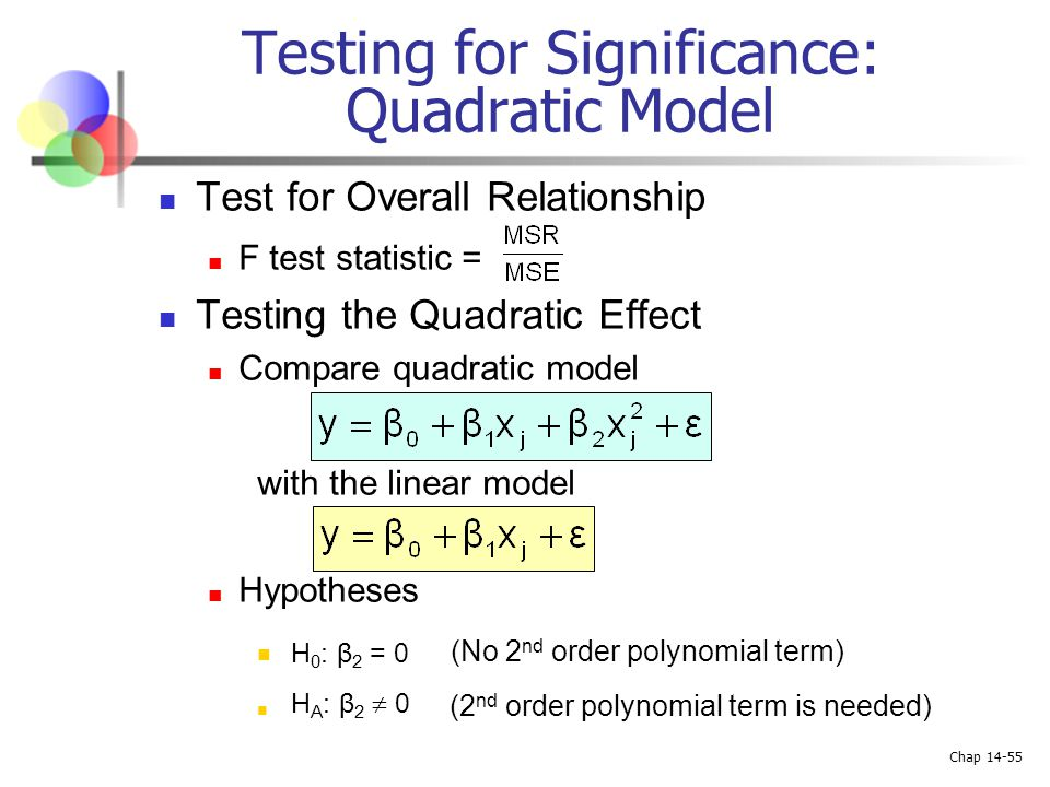 Testing for Significance: Quadratic Model