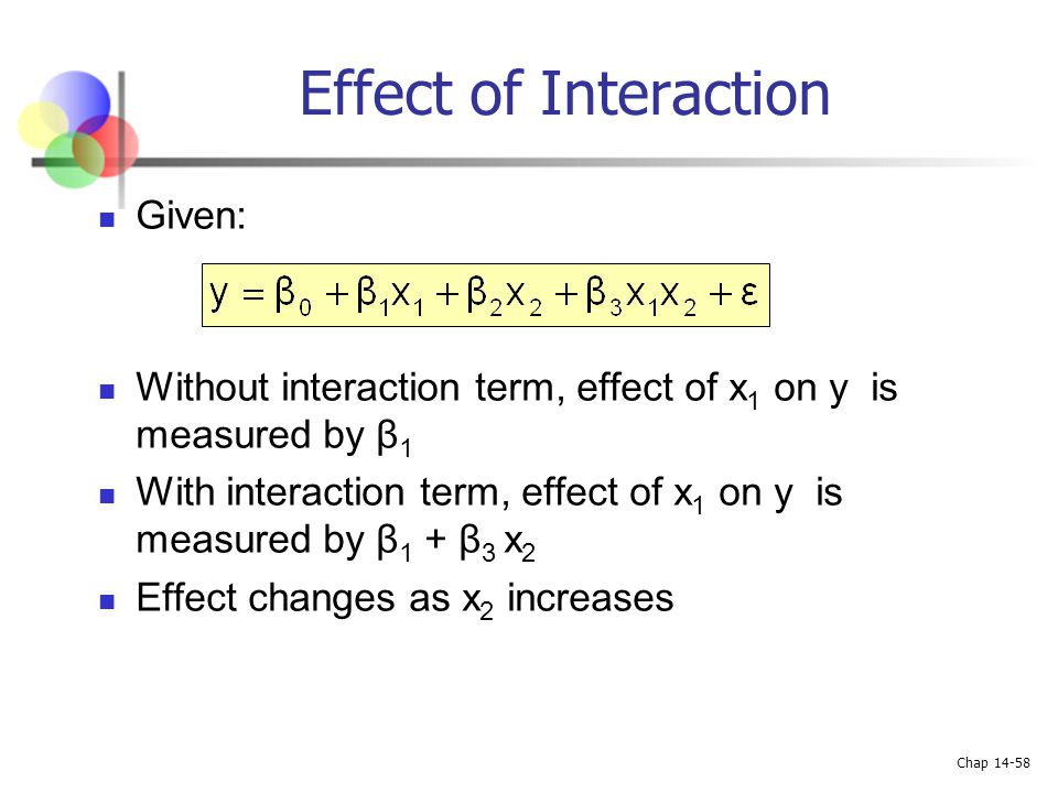 Effect of Interaction Given: