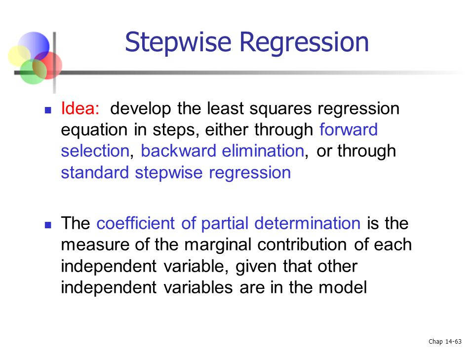 Stepwise Regression