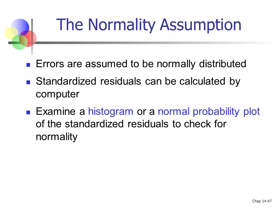 The Normality Assumption