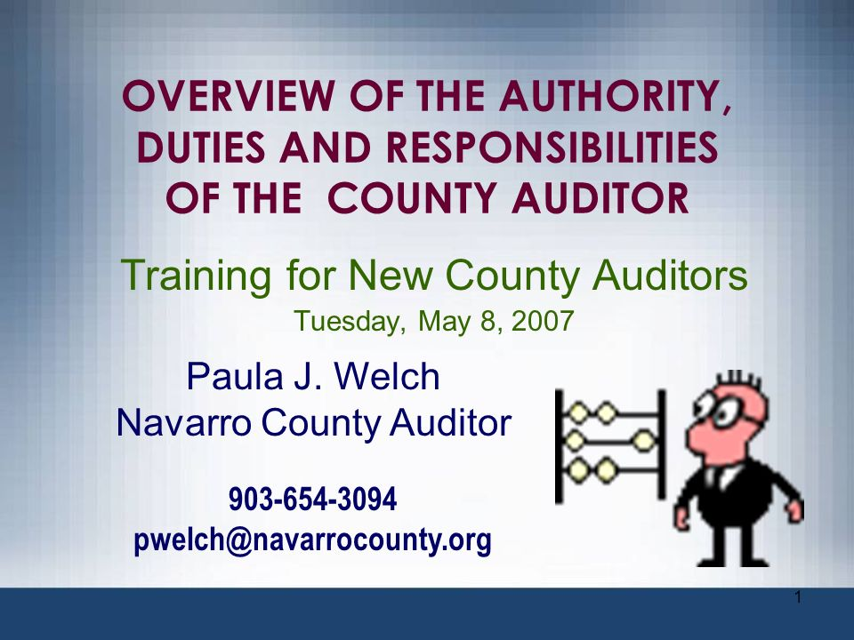 Training for New County Auditors