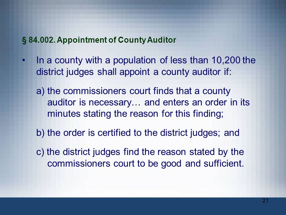b) the order is certified to the district judges; and