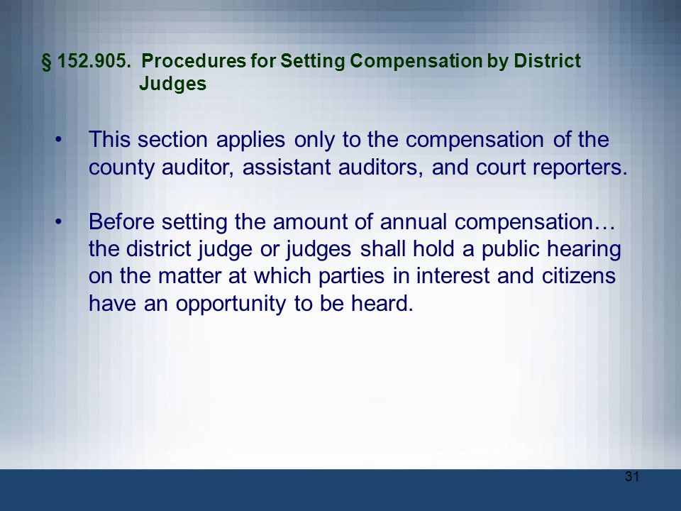 § Procedures for Setting Compensation by District Judges