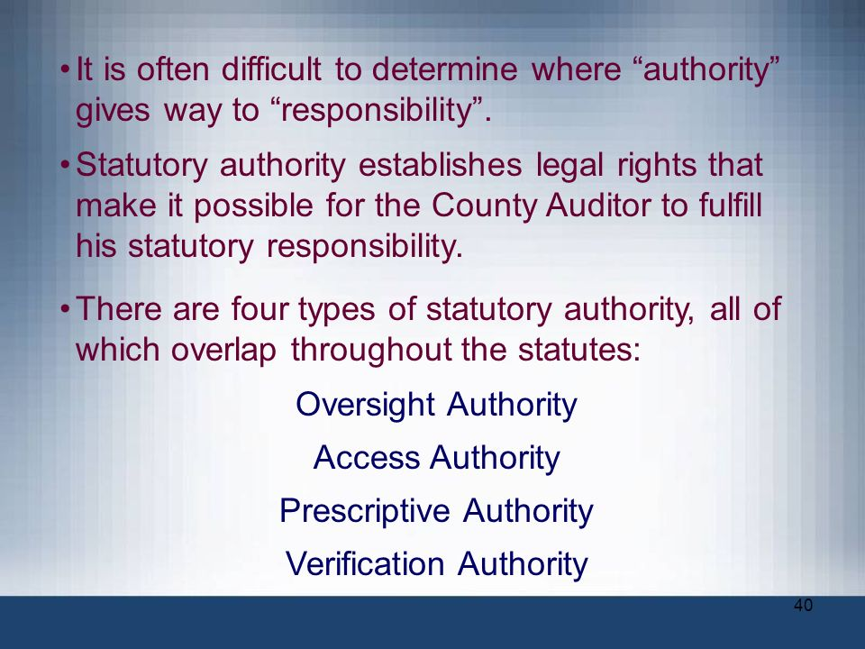 Prescriptive Authority Verification Authority