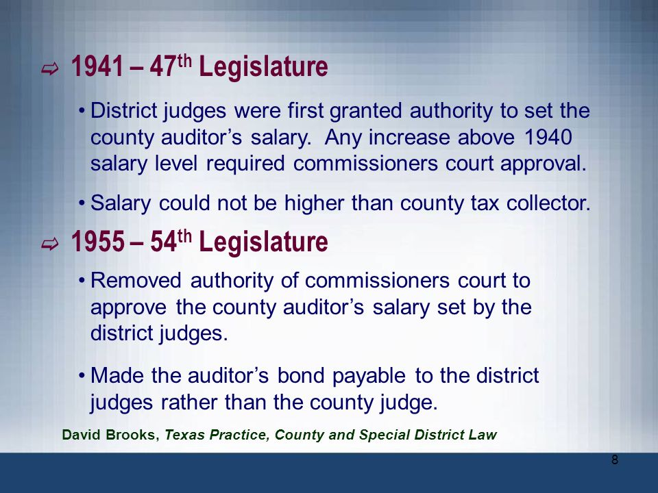 Salary could not be higher than county tax collector.