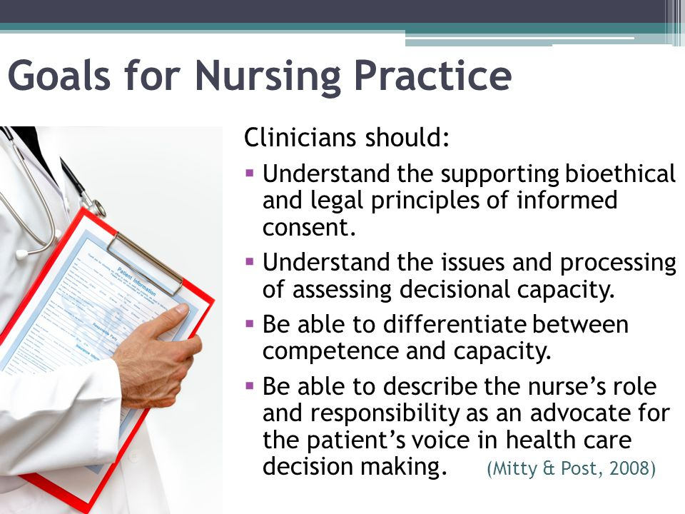 Goals for Nursing Practice