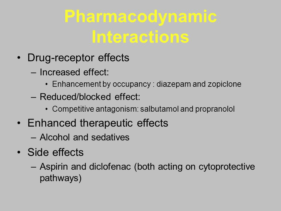 Pharmacodynamic Interactions